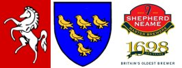 Kent and Sussex club logos